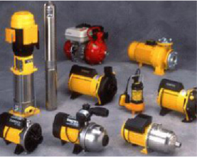 A display of water tank pumps for Currumbin